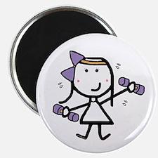 Girl & Exercise Magnet