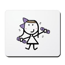 Girl & Exercise Mousepad