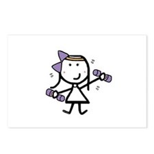 Girl & Exercise Postcards (Package of 8)