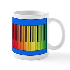 Rainbow Piano Keys Mug