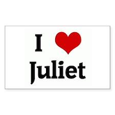 I Love Juliet Rectangle Decal