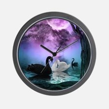 Wonderful black and white swan in the night Wall C