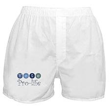 Vote pro-life Boxer Shorts