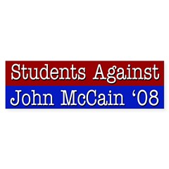 Students Against John McCain '08 bumper sticker
