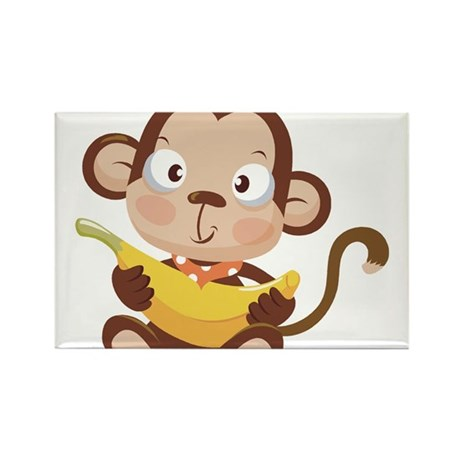 CUTE MONKEY Rectangle Magnet (10 pack)