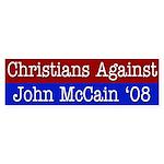 Christians Against John McCain bumper sticker
