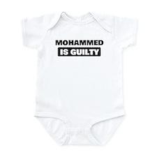 MOHAMMED is guilty Infant Bodysuit