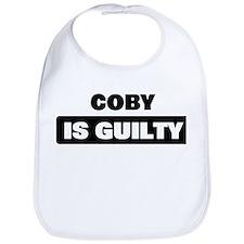 COBY is guilty Bib