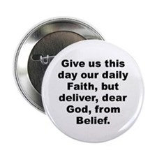 "Cute Give us day our daily faith deliver dear 2.25"" Button (10 pack)"