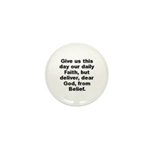 Cute Give us day our daily faith deliver dear Mini Button (100 pack)