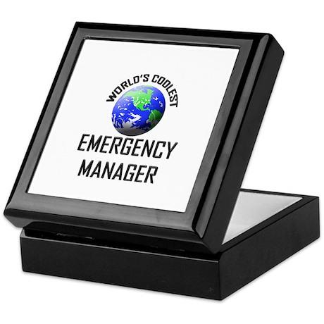 World's Coolest EMERGENCY MANAGER Keepsake Box