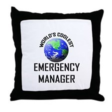 World's Coolest EMERGENCY MANAGER Throw Pillow