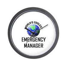 World's Coolest EMERGENCY MANAGER Wall Clock