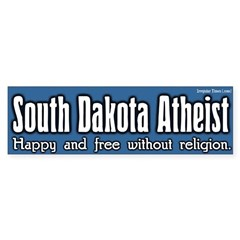 South Dakota Atheist Bumper Bumper Sticker