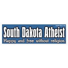 South Dakota Atheist Bumper Bumper Sticker