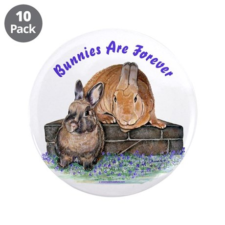 "Bunny Friends 3.5"" Button (10 pack)"