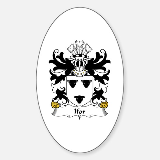 """Ifor (HAEL, """"the generous"""") Oval Decal"""