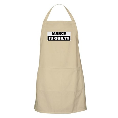 MARCY is guilty BBQ Apron