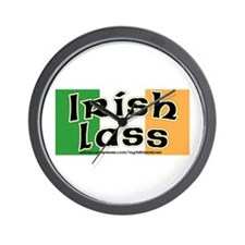 Irish Lass - Flag Design Wall Clock
