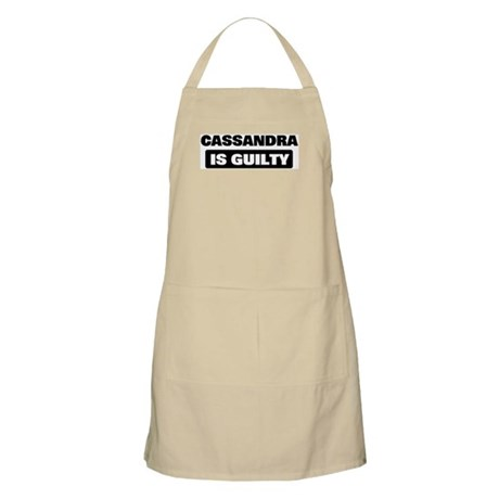 CASSANDRA is guilty BBQ Apron