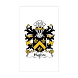 Family crest hughes Stickers