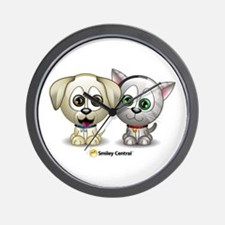 Puppy and Kitty Wall Clock