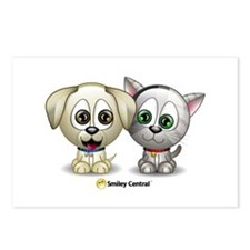 Puppy and Kitty Postcards (Package of 8)