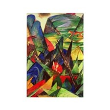 Foxes by Franz Marc Rectangle Magnet