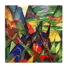 Foxes by Franz Marc Tile Coaster