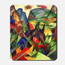 Foxes by Franz Marc Mousepad