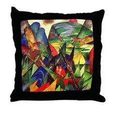 Foxes by Franz Marc Throw Pillow