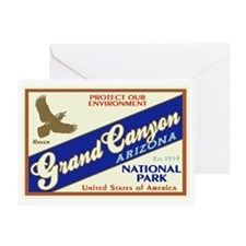 Grand Canyon (Raven) Greeting Card