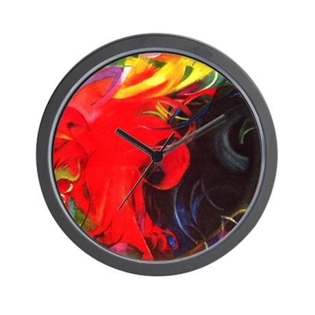 Fighting Forms by Franz Marc Wall Clock