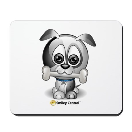 Puppy with Bone Mousepad
