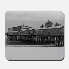 Snow Covered Maine State Pier Mousepad