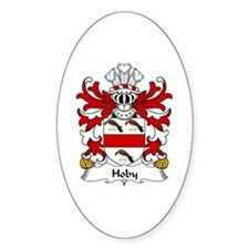 Hoby (of Radnor, Powys) Oval Decal
