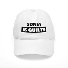 SONIA is guilty Baseball Cap