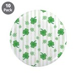 "St Patrick's Shamrock Pattern 3.5"" Button (10 pack"