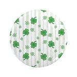 """St Patrick's Shamrock Pattern 3.5"""" Button"""