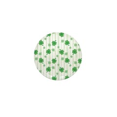 St Patrick's Shamrock Pattern Mini Button