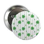 """St Patrick's Shamrock Pattern 2.25"""" Button"""