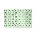 St Patrick's Shamrock Pattern Rectangle Magnet (10