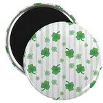"St Patrick's Shamrock Pattern 2.25"" Magnet (10 pac"