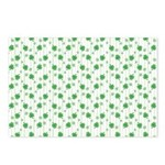 St Patrick's Shamrock Pattern Postcards (Package o