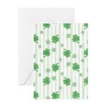 St Patrick's Shamrock Pattern Greeting Card