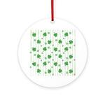 St Patrick's Shamrock Pattern Ornament (Round)