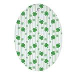 St Patrick's Shamrock Pattern Oval Ornament