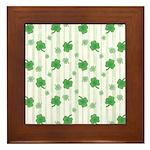 St Patrick's Shamrock Pattern Framed Tile
