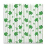 St Patrick's Shamrock Pattern Tile Drink Coaster