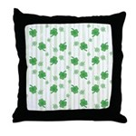 St Patrick's Shamrock Pattern Throw Pillow